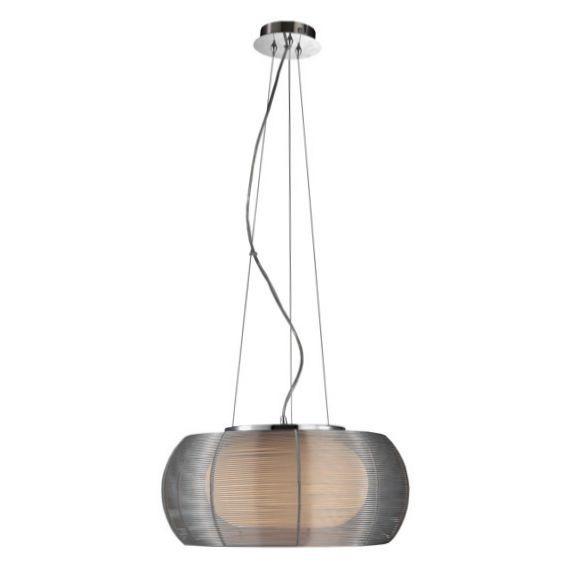 Lampa Wisząca Tango Silver 40cm Siatka Lampy Wewnętrzne Lampy