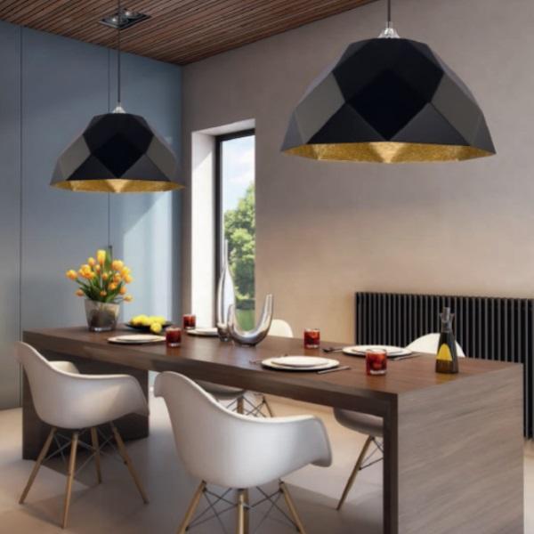 lampa wisz ca rich czarno z ota 35cm h ngelampen salon. Black Bedroom Furniture Sets. Home Design Ideas