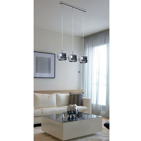 lampa crystal 3x13cm 3 h ngelampen salon k che esszimmer o wietlenie. Black Bedroom Furniture Sets. Home Design Ideas