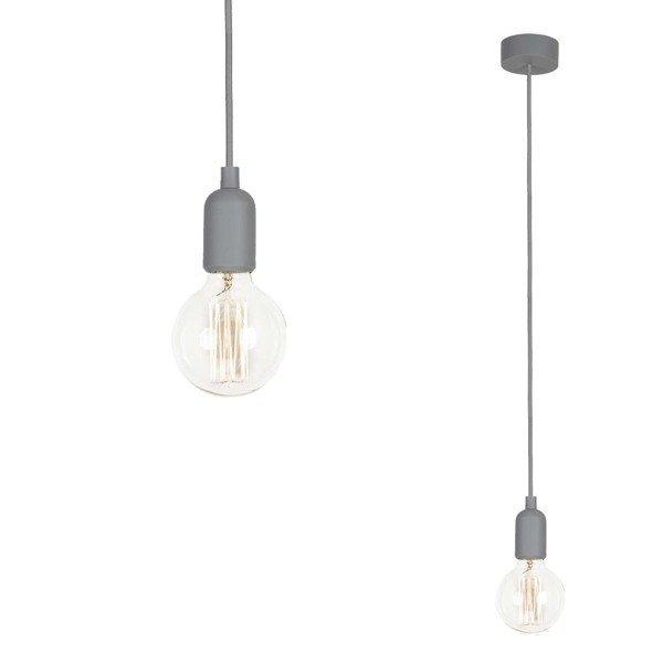 lampa silicone gray 90cm szary kabel 6398 grau h ngelampen salon k che esszimmer o wietlenie. Black Bedroom Furniture Sets. Home Design Ideas