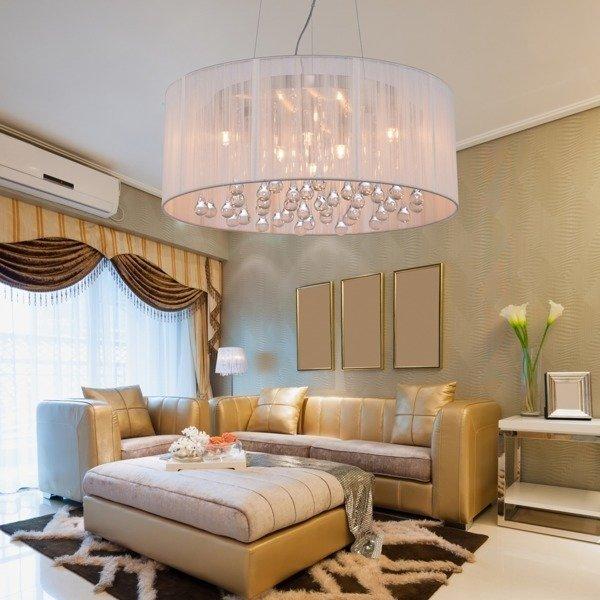 lampa wisz ca artemida 50cm kryszta y h ngelampen salon. Black Bedroom Furniture Sets. Home Design Ideas
