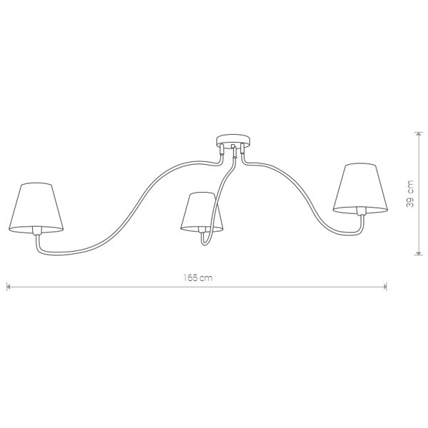 Lampa sufitowa SWIVEL BLACK III