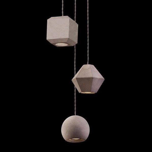 Betonowa Lampa Geometric Iii 9695 Zwis 130cm
