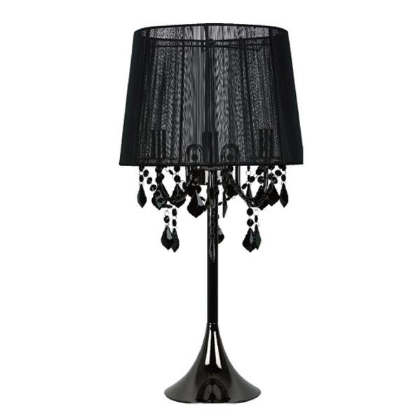 Czarna Lampa Mona Stołowa Lampy Wewnętrzne Lampy Stojące
