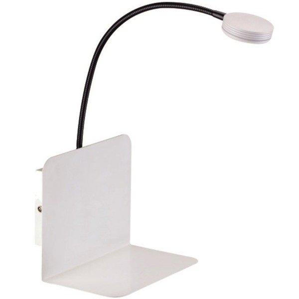 Lampa ścienna Arles Biała Z Małą Półką