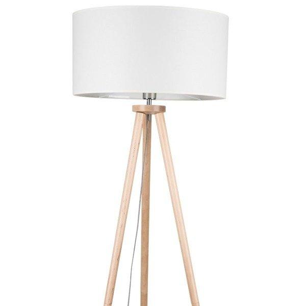 lampy do salonu stojace kremowe
