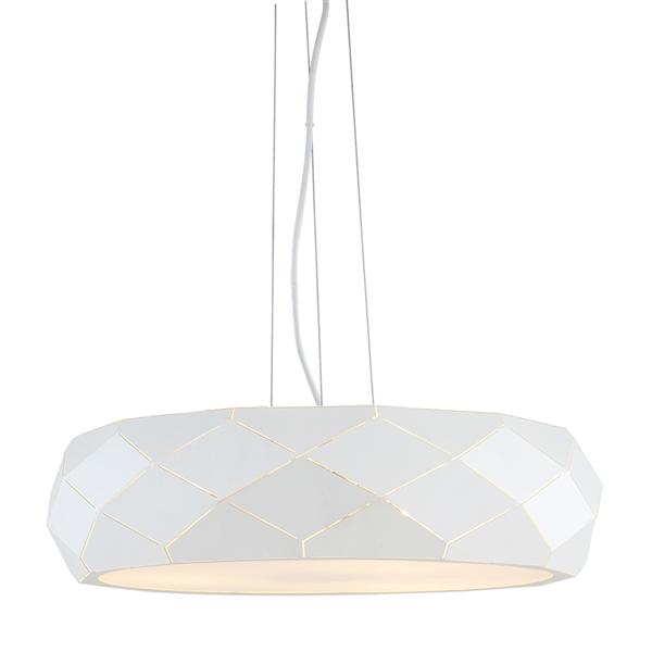 Lampa Wisząca Reus Biała 47cm