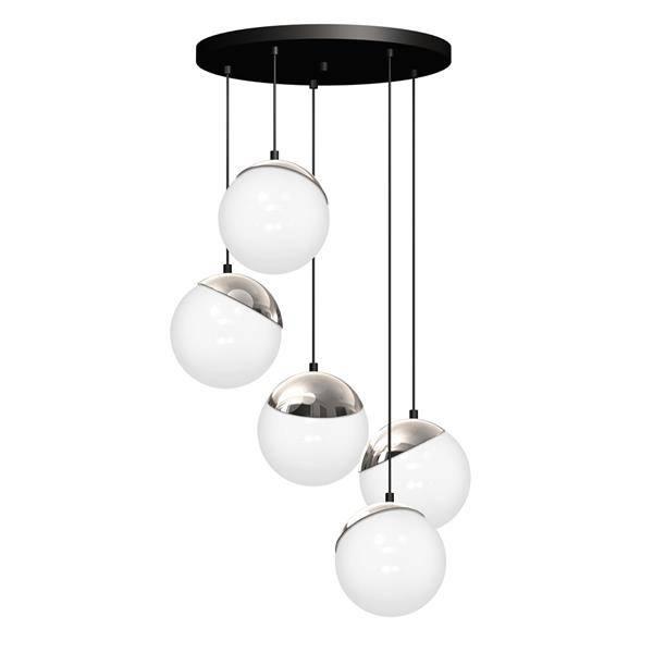 Lampa wisząca nowoczesna szklana kula SFERA V chrom śr. 35cm