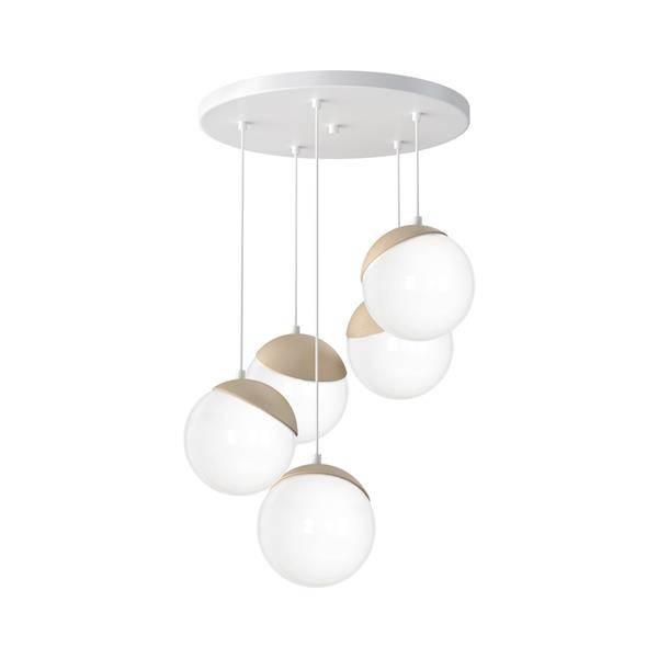 białe szklane lampy sufitowe