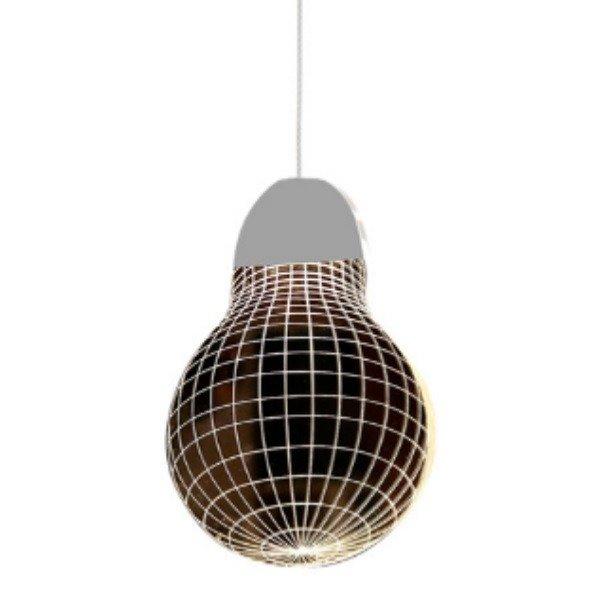 Lampa wisząca żarówka 3D LED