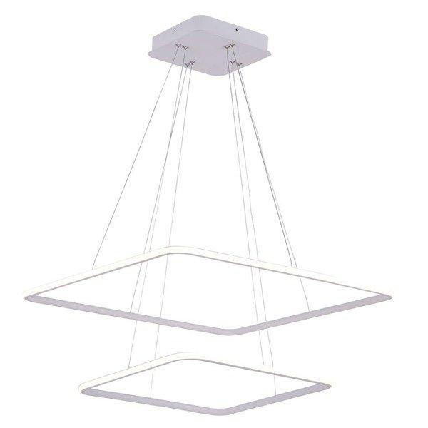 nowoczesne lampy kwadratowe sufitowe wiszące jadalnia