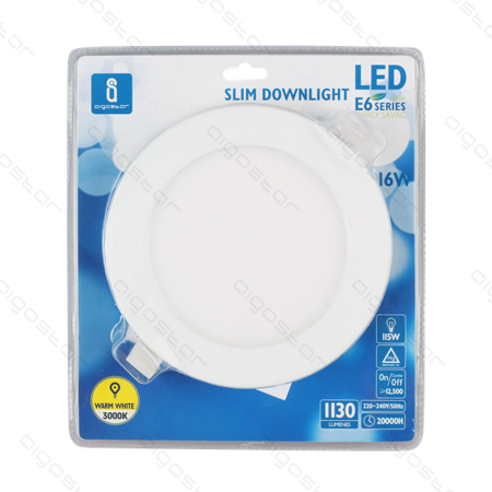 Downlight panel LED SLIM 16W 205mm 6000K biała