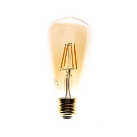Filament LED ST64 łezka E27 6W GOLD