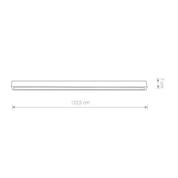 Lampa sufitowa STRAIGHT LED graphite ceiling122cm